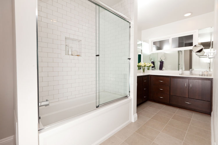 Comparing Three Bathrooms, Two Modern & One Transitional