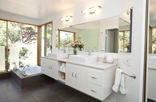 Three White Bathrooms, Three Different Styles: Rate Your Favorite!