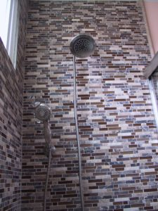 Los Angeles Bathroom Remodel | Maggie's New Tile & Shower Head