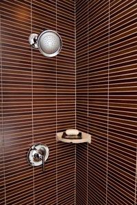 Office Bathroom | Horizontal Tile Shower