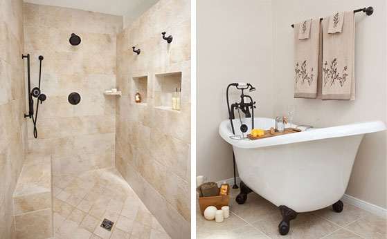 Shower and bathtub re-design