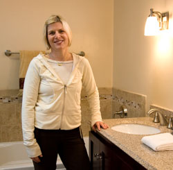 Meg Moreta hired One Week Bath Customer to remodel her bath