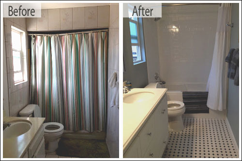 Before and after bathroom remodeling photos