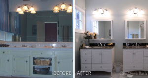 Transformation Tuesday: Natural Surfaces Enhance a Traditional Style Bathroom
