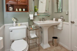 Transformation Tuesday: A Stained Glass Window Inspires a Vintage Bathroom Remodel