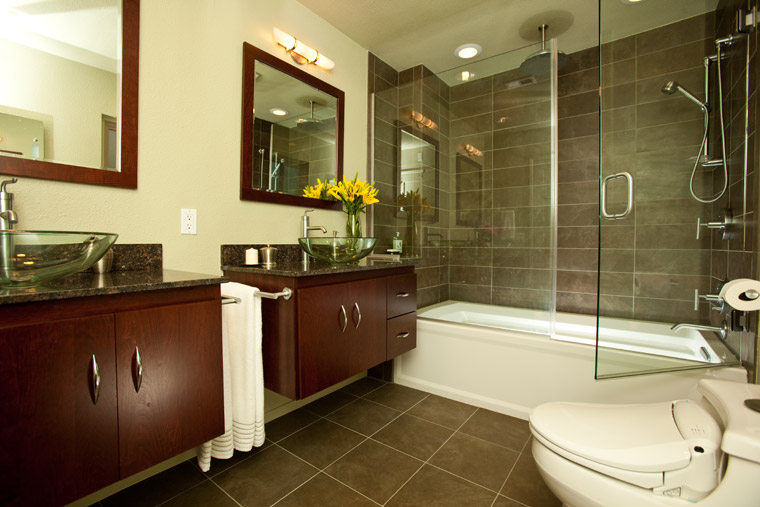 Floating Vanities | Sherman Oaks Bathroom Redesign & Remodel