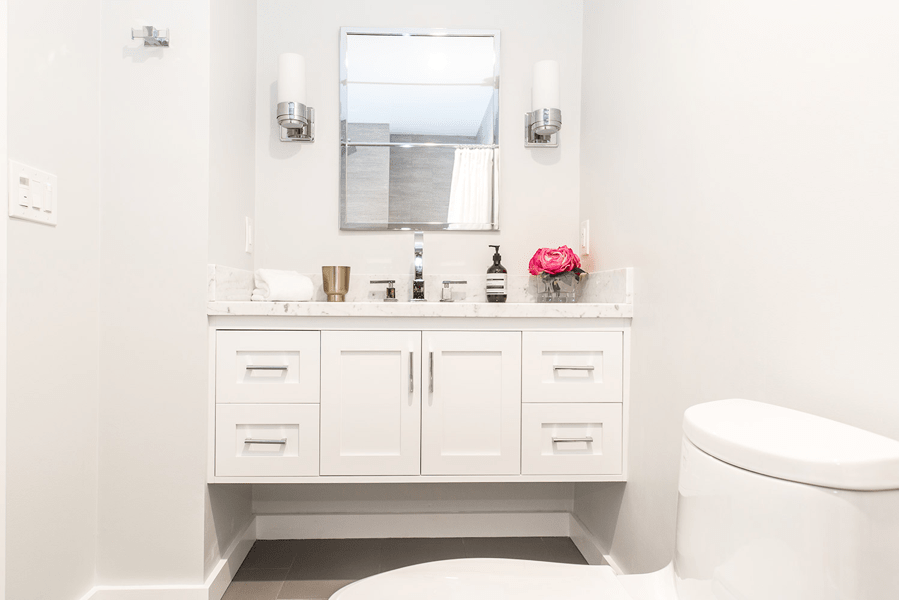 small vanity bathroom