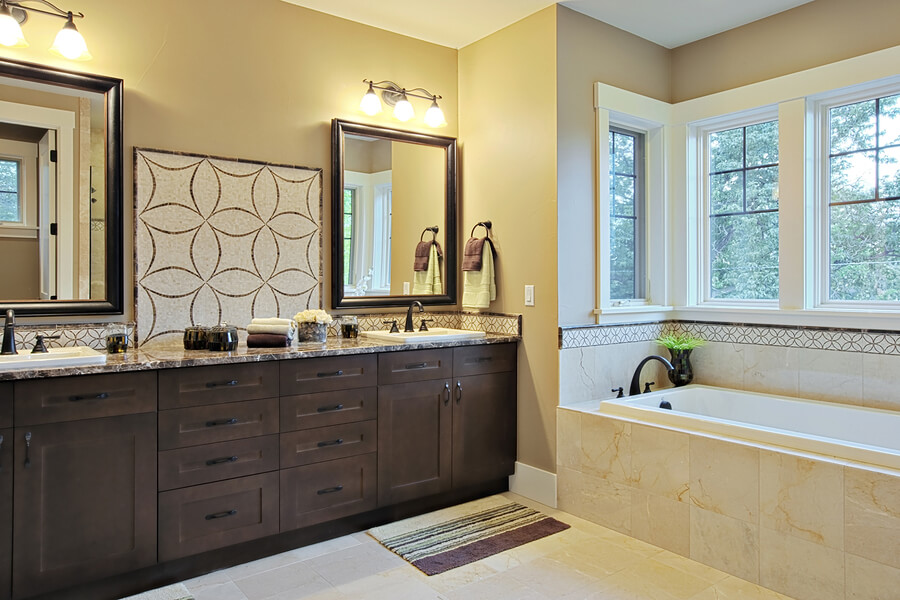granite countertop luxury bathroom